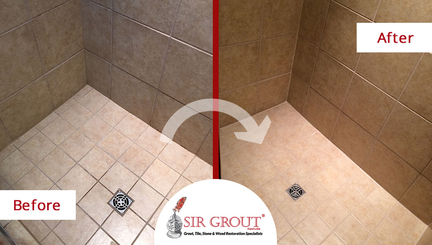 No More Stains And Water Damage For This Bathroom In Nolensville - Bathroom tile restoration