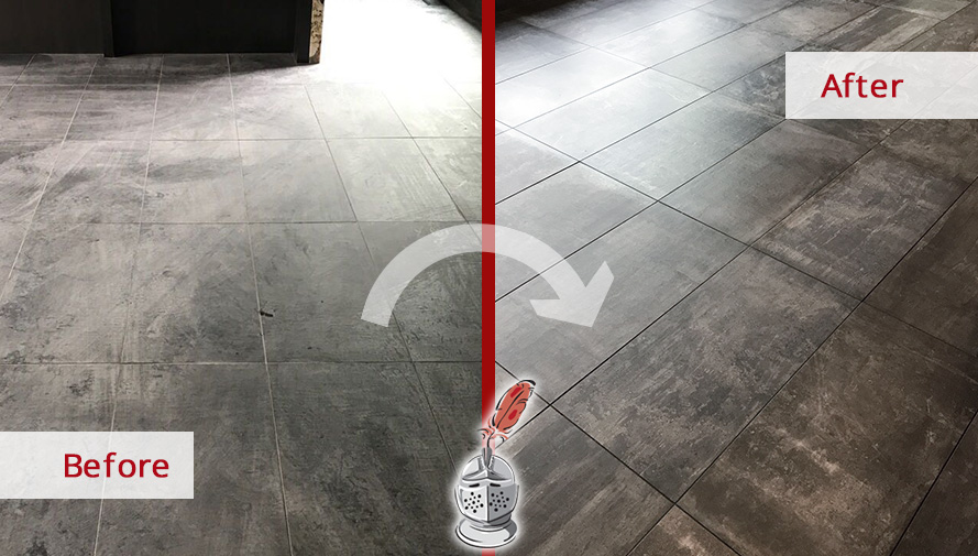 Before and After Picture of a Tile Cleaning Service in Nolensville, TN