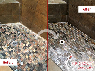 Before and after Picture of Our Hard Surface Restoration Services in Nashville, TN