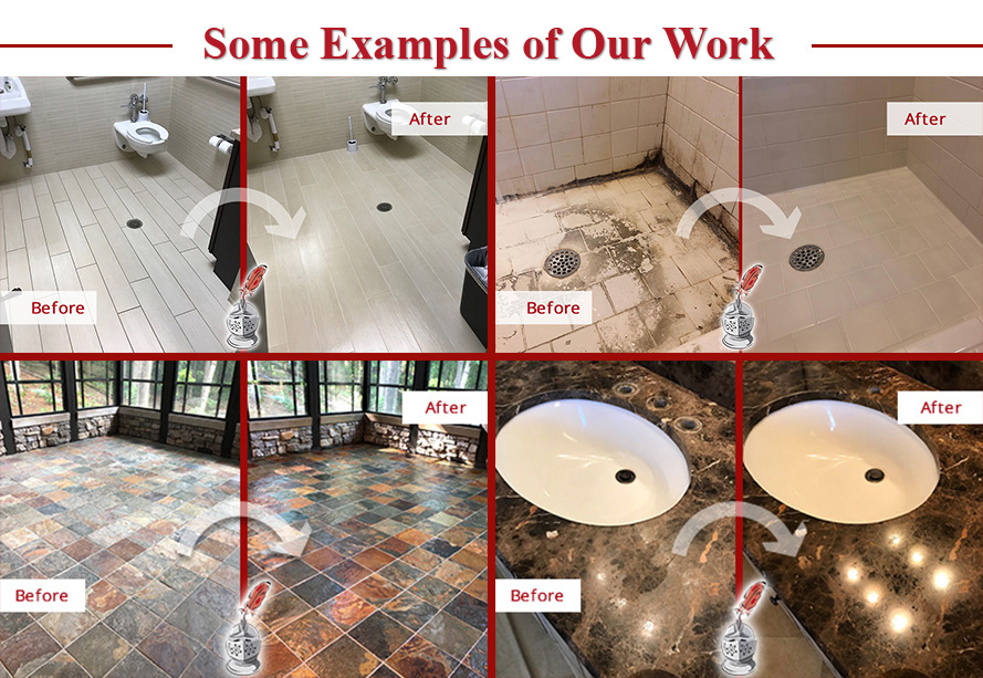 Picture of Some Examples of Sir Grout Nashville's Hard Surface Restoration Services